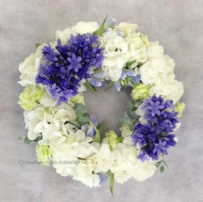 生花 フレッシュフラワー アレンジメント テーブルリース