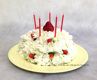 フラワーケーキ 生花 アレンジメント バースデー 誕生日