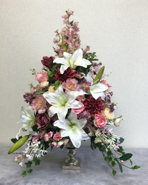 敬老の日 贈り物 造花(アーティフィシャルフラワー) アレンジメント ブリティッシュトラディショナル