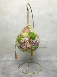 手作り ボールブーケ 造花 プリザーブドフラワー ボタン ピンポンマム