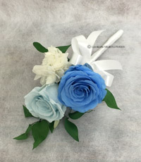 手作りブトニア バラ サムシングブルー
