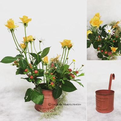 生花 フラワーアレンジメント スプレーバラ マーガレット
