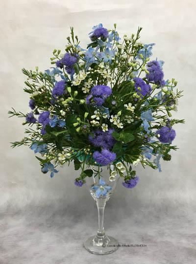 フラワーアレンジメント 生花 オーバル ワイングラス