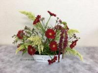 秋のフラワーアレンジメント 生花 ヨーロピアンスタイル