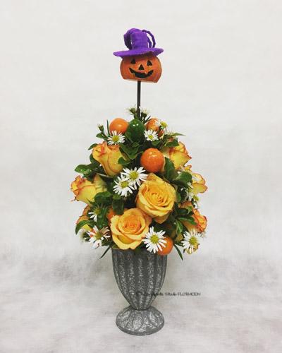 ハロウィン フラワーアレンジメント フレッシュフラワー 生花