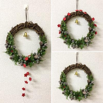 クリスマスリース アーティフィシャルフラワー 造花