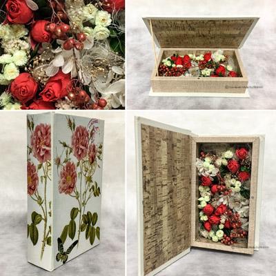 ボックスアレンジメント アーティフィシャルフラワー(造花) 結婚祝い