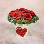 バレンタイン フラワーアレンジメント 造花