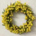 造花 リース ミモザ