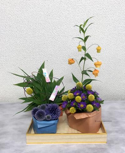 七夕 生花 フラワーアレンジメントスクール 大阪 教室