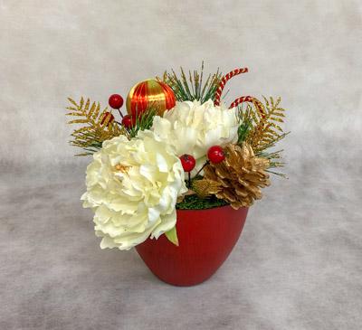 フラワーアレンジメント 大阪 お正月 造花