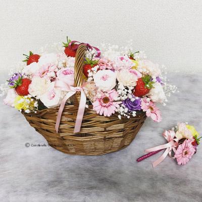 大阪のフラワー教室 手作りのブライダルブーケ プリザーブドフラワー ラプンツェル