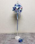 大阪のフラワー教室 手作りのブライダルブーケ プリザーブドフラワー シンデレラ